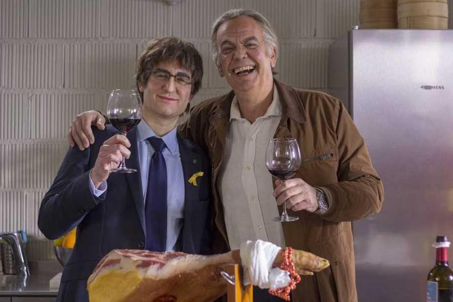 Bertín Osborne y Carles Puigdemont
