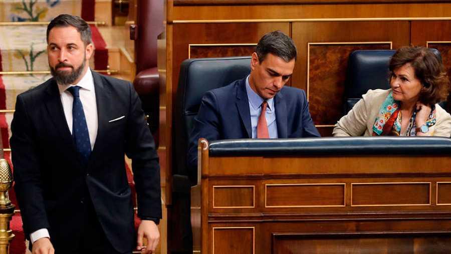 Abascal, el día de la constitución del Congreso de los Diputados (EFE)