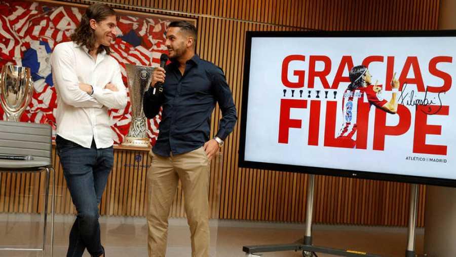 Despedida de Filipe Luis como jugador del Atlético de Madrid