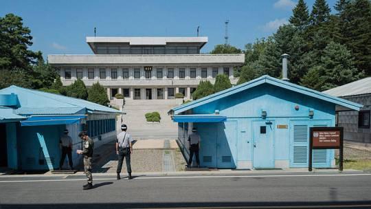 Soldados surcoreanos en la Zona Desmilitarizada que divide Corea del Norte y del Sur.