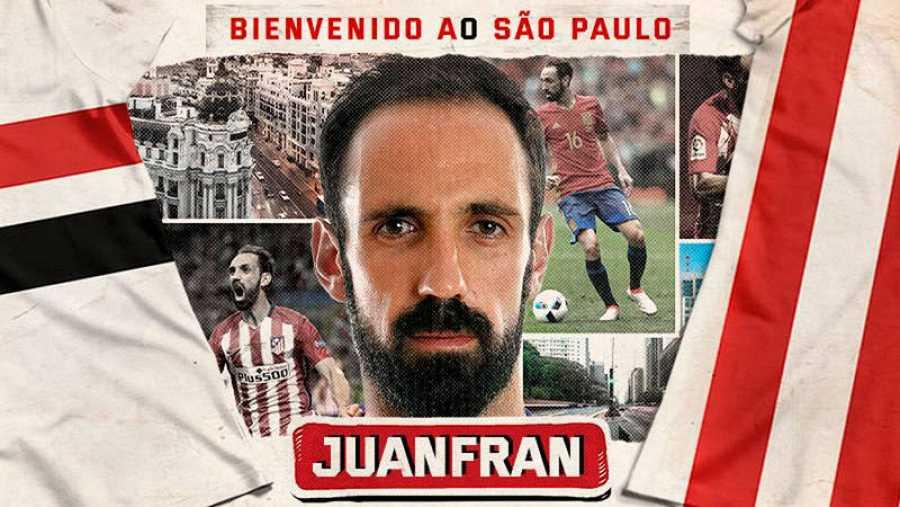 Imagen con la que el Sao Paulo ha anunciado la llegada de Juanfran