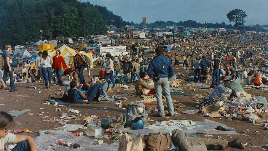 Imagen del recinto en el que se celebró el festival de Woodstock.