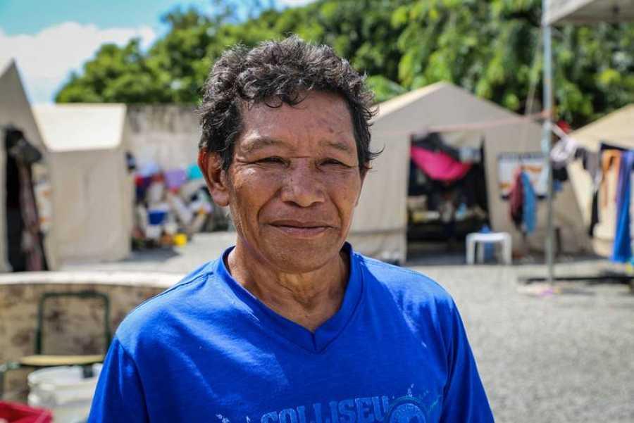 Israel, 56 años, hombre indígena del grupo étnico Warao. Vive en el refugio Pintolandia, en Boa Vista.Victoria Servilhano/MSF