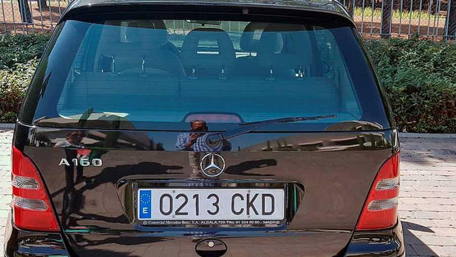 Fotografía del coche de Blanca Fernández Ochoa difundida en twitter por un amigo de la familia