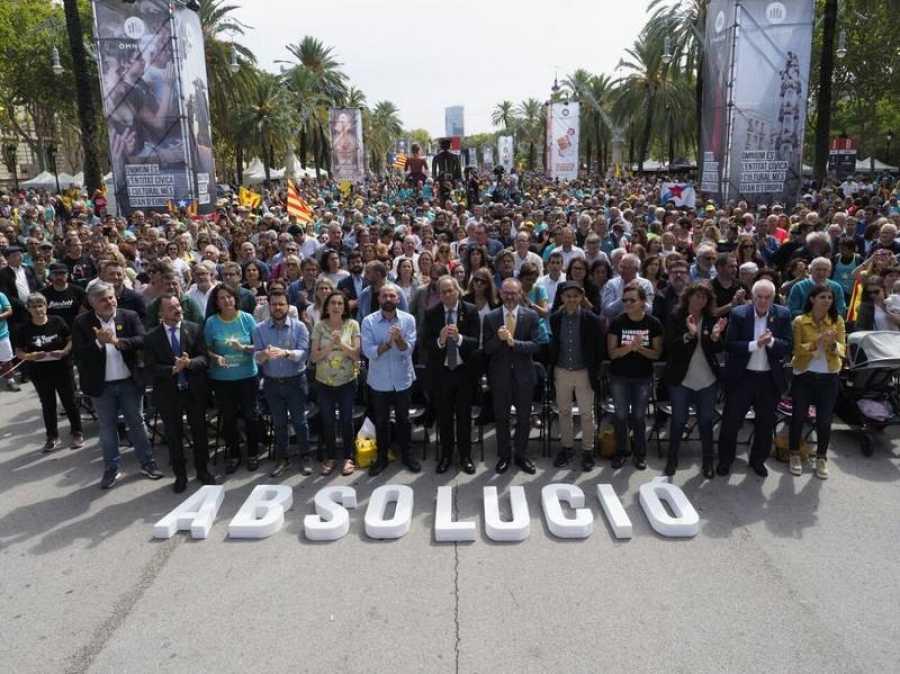 Diada 2019 - Acto de Òmnium para pedir la absolución de los políticos soberanistas presos
