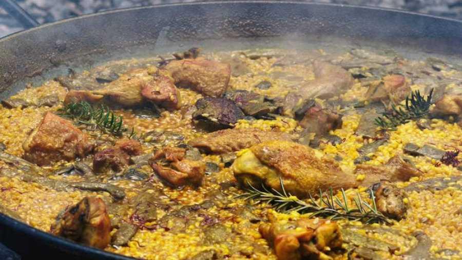 Una muestra de la paella valenciana
