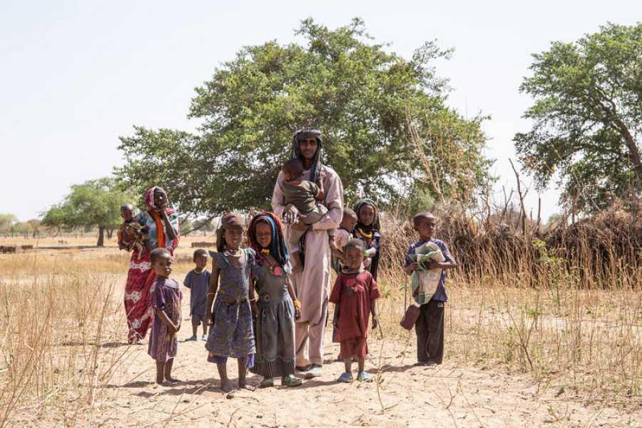 Mahamad Abu, de 30 años, de Djouna, distrito de Am Timan llevó al menos a nueve niños de su clan nómada a vacunarse