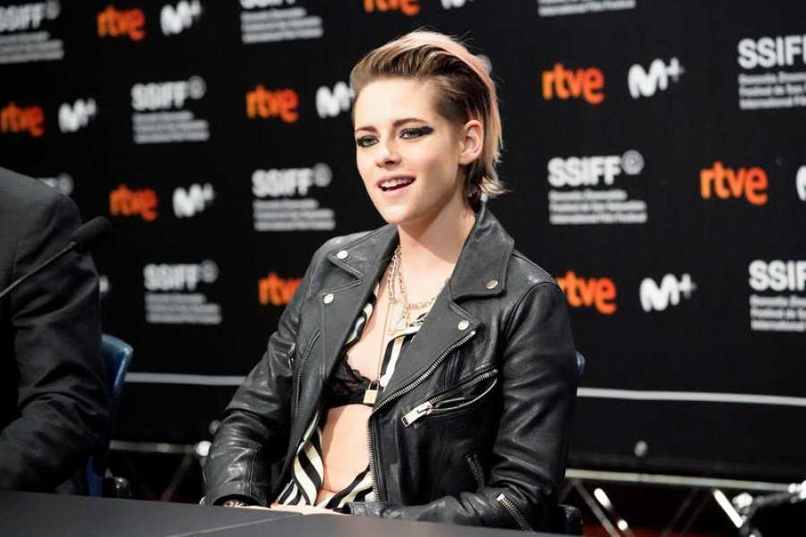 U.S. actor Kristen Stewart takes part in a news conference to promote the feature film Seberg, at the San Sebastian Film Festival