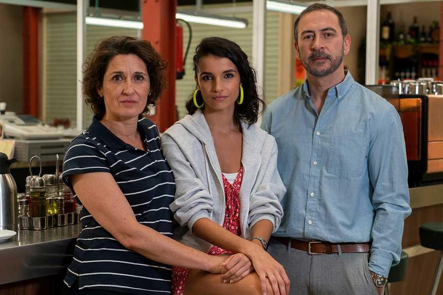 Rosa, Noa y Nacho, familia Salinas
