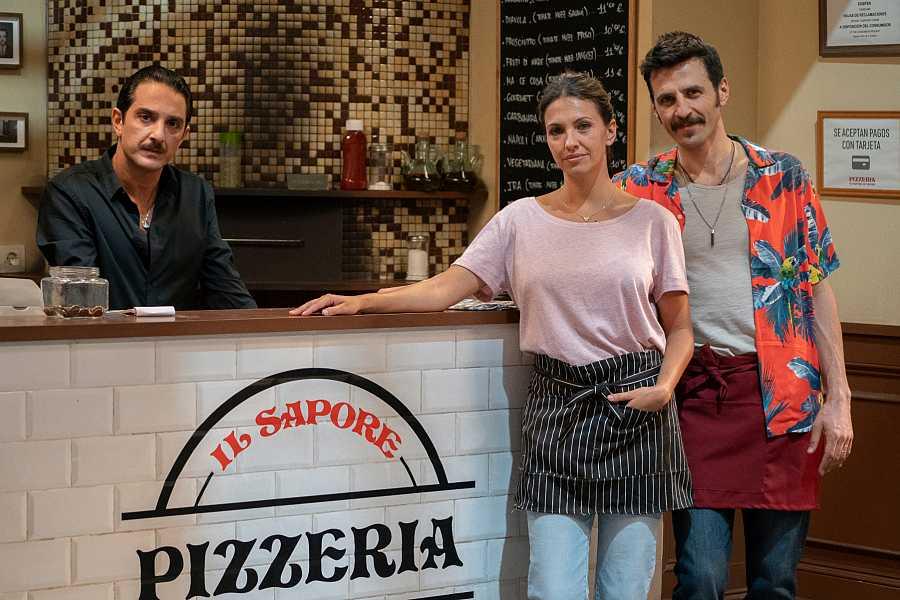 Doménico, Cristina y Paolo
