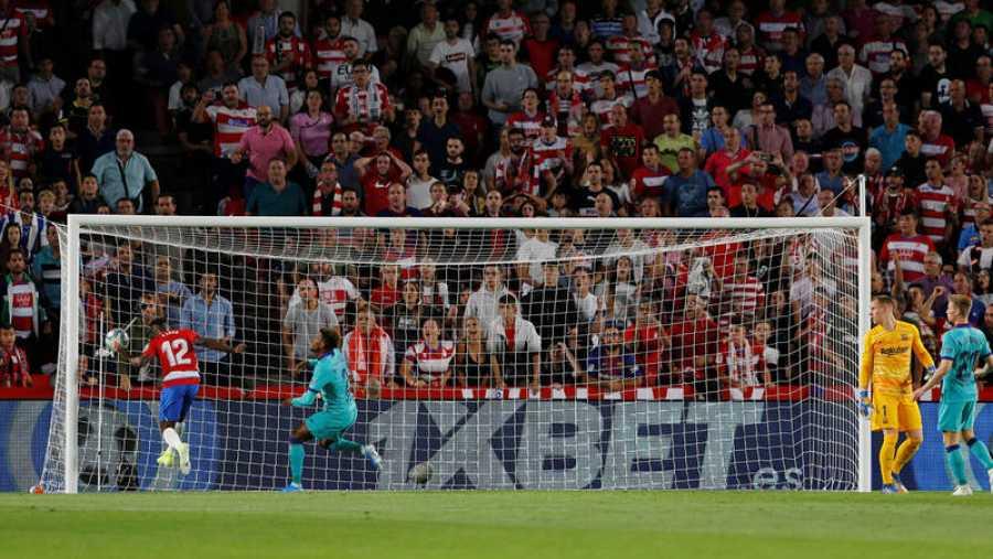 Azeez marca el primer gol para el Granada