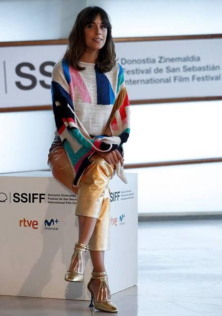 La actriz Belén Cuesta durante la presentación de 'La trinchera infinita', que compite en la sección oficial