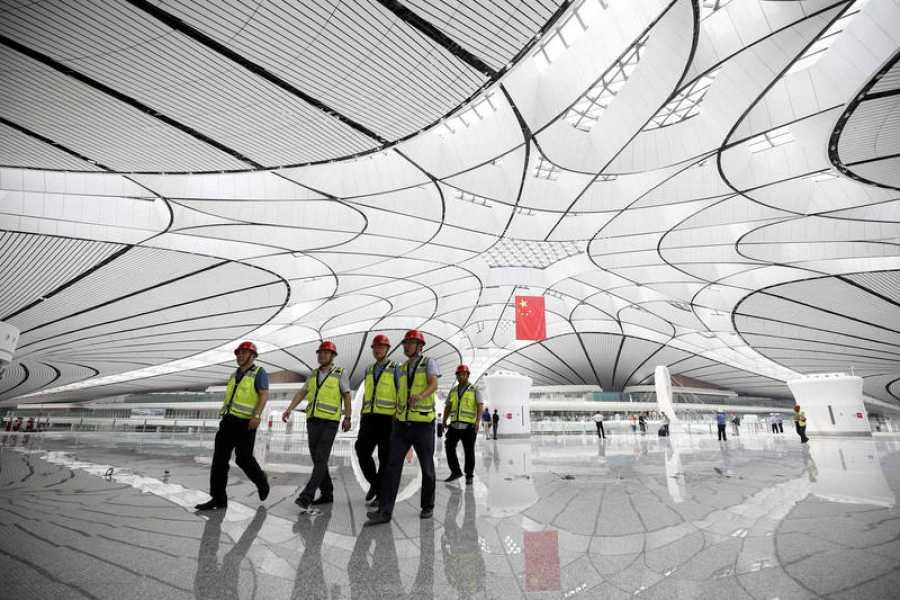 Cúpula central del aeropuerto Pekín-Daxing