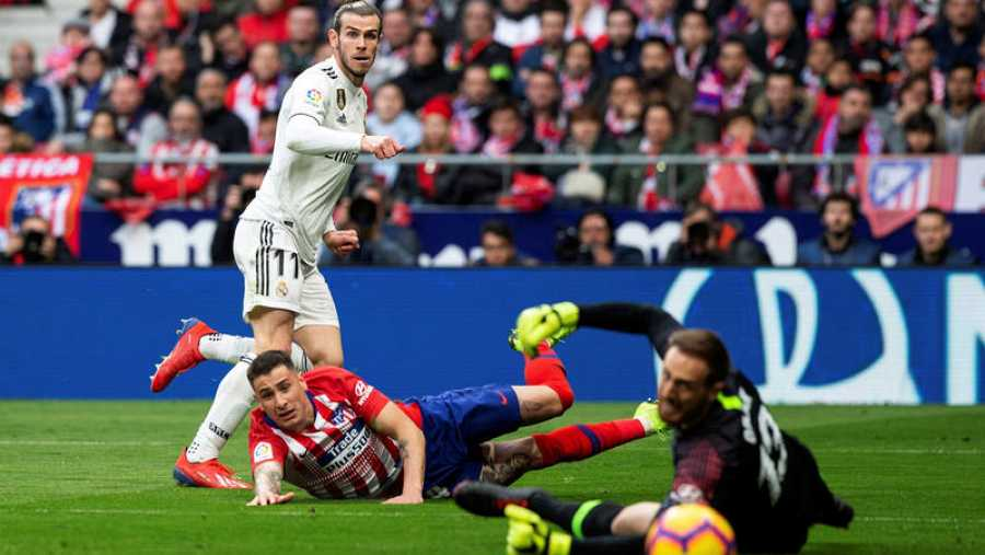 Gareth Bale, protagonista en el pasado 1-3 del Madrid al Atlético.