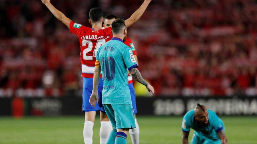 La alegría del Granada contrasta con las dudas del Barça, donde Messi vuelve a ser baja.