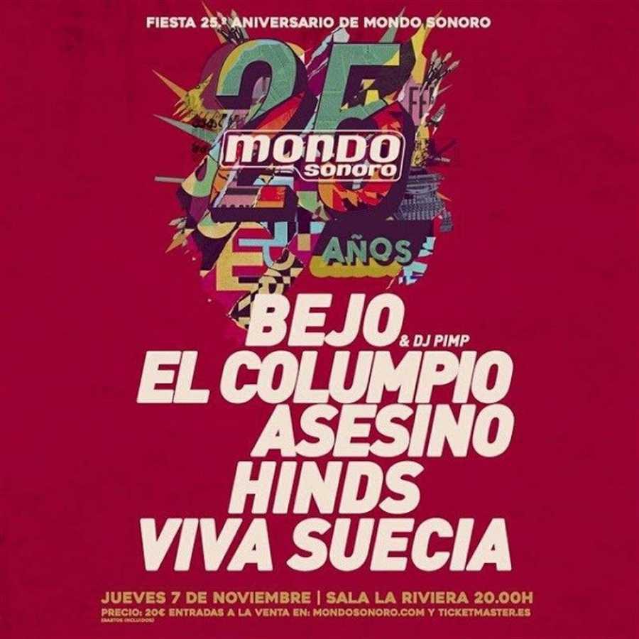 Cartel de la Fiesta 25º aniversario de Mondo Sonoro