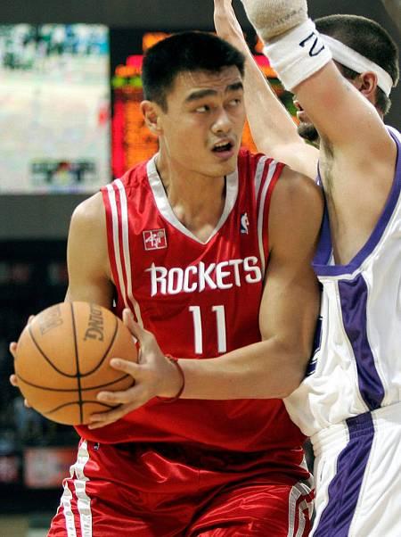 Yao Ming, en su etapa como jugador de los Rockets.