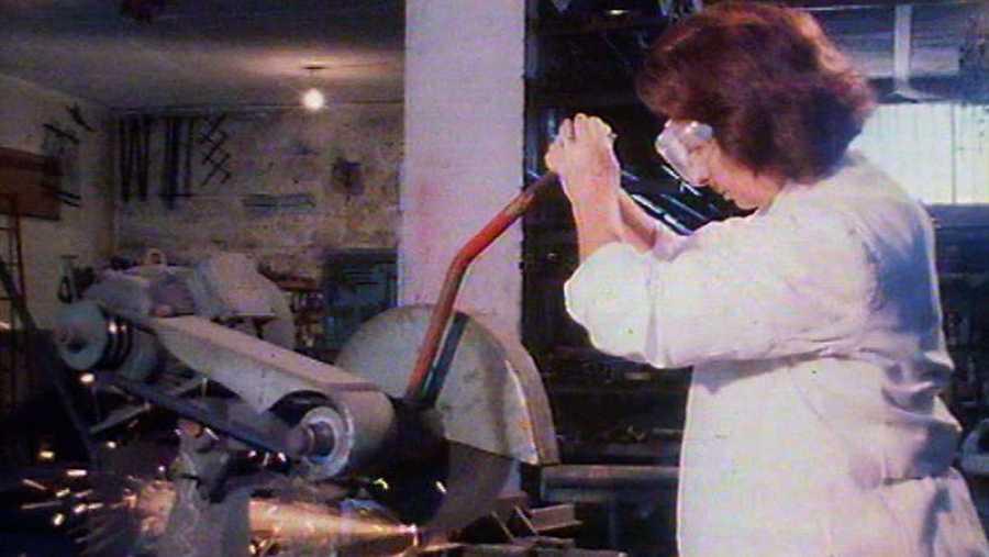 Maria Belén Morales, en su taller