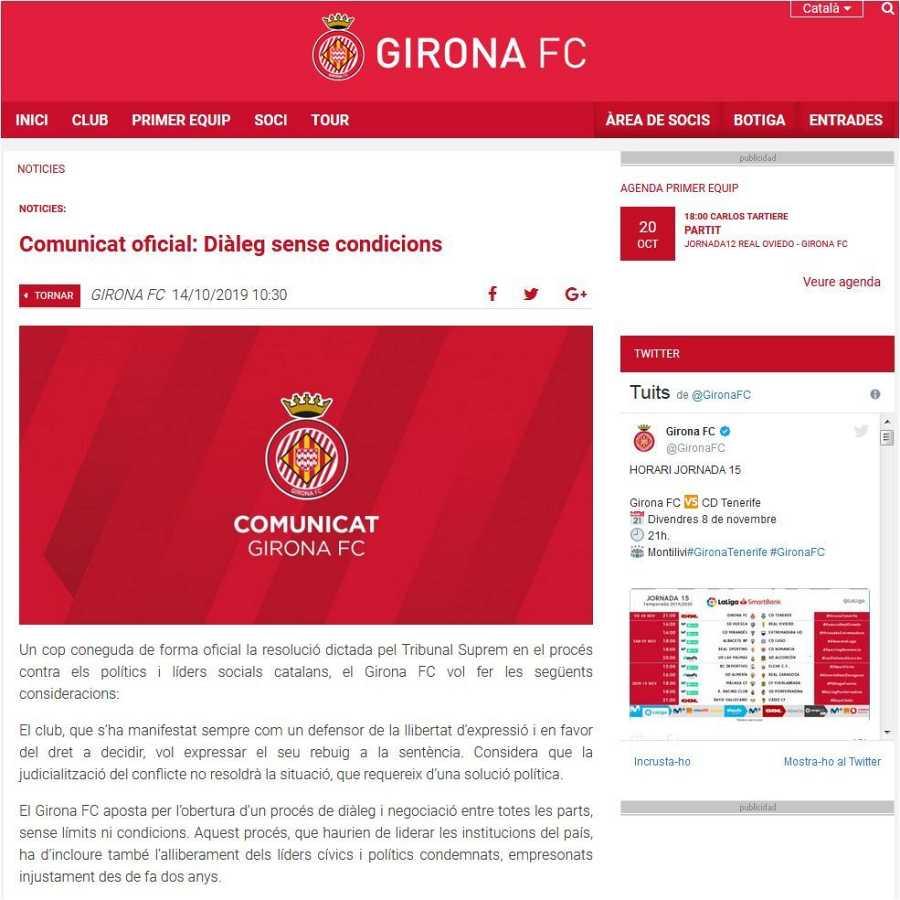 Comunicat FC Girona