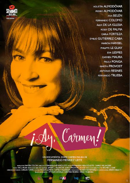 Póster del documental '¡Ay Carmen!'