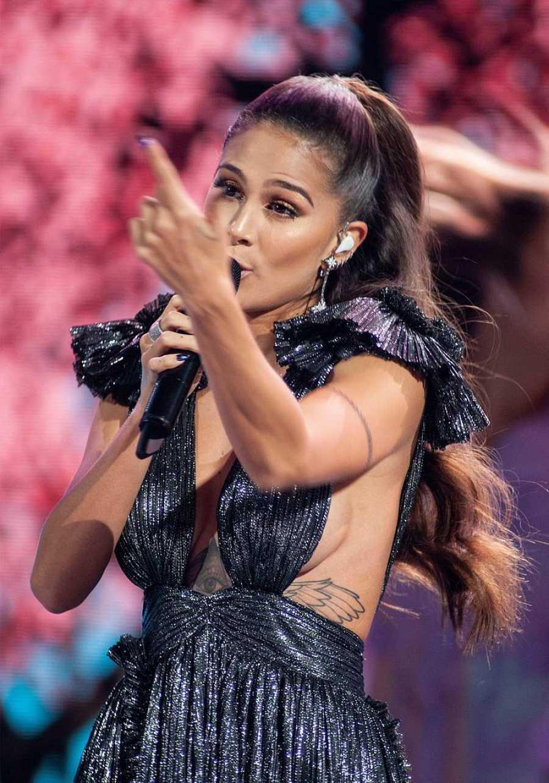 Greeicy durante los premios Latin American Music 2019