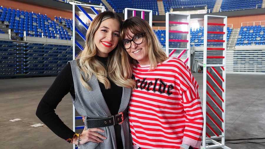 Reencuentro Noemí y Mireya en la fase 2 del casting de OT 2020 en Málaga