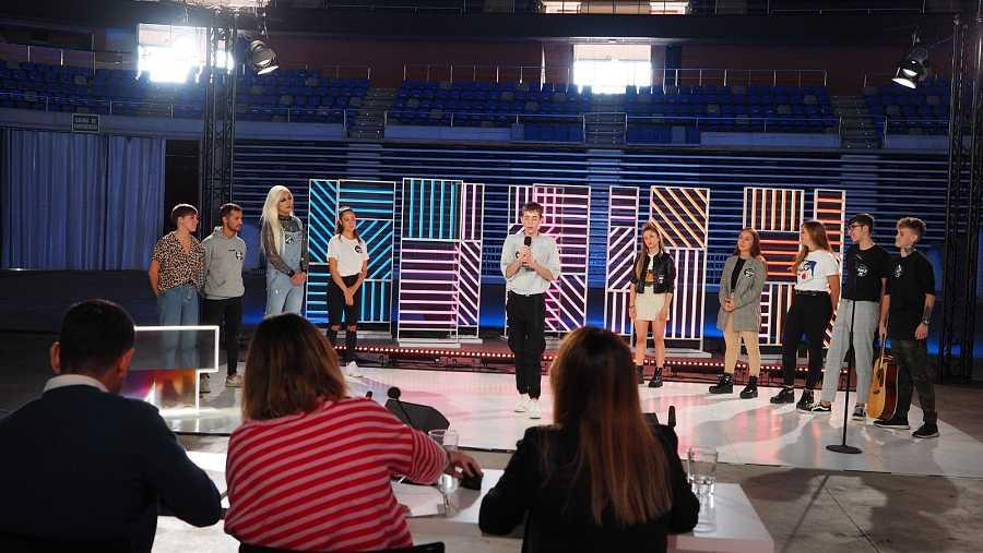 El cuarto grupo haciendo la prueba en la fase 2 del casting de OT 2020 en Málaga
