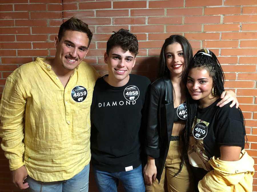 Los seleccionados del tercer grupo en la fase 2 del casting de OT 2020 en Málaga