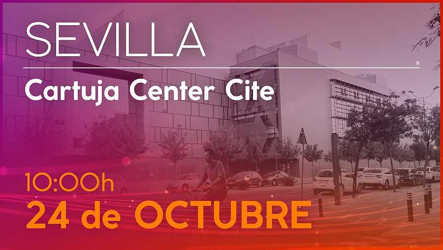 Cartel de la convocatoria del casting de OT 2020 en Sevilla el 24 de octubre
