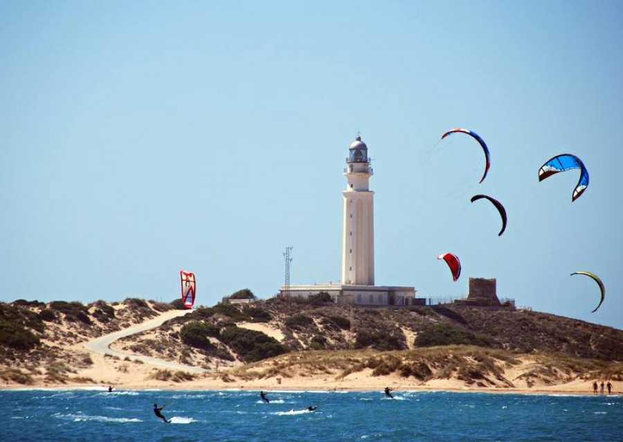Kitesurfers at Trafalgar, Spain.