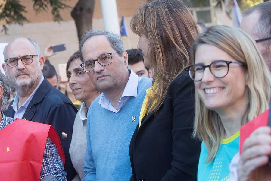 El president de la Generalitat, Quim Torra, va participar a la manifestació independentista