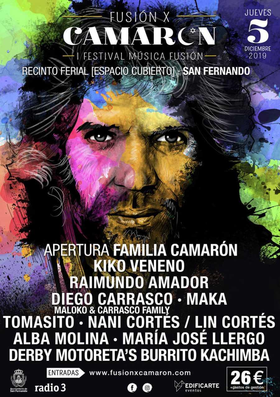 Cartel completo del nuevo festival 'Fusión x Camarón'