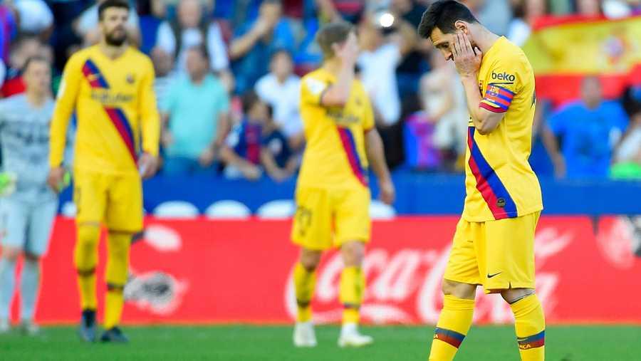 Lionel Messi lamenta un tanto del Levante