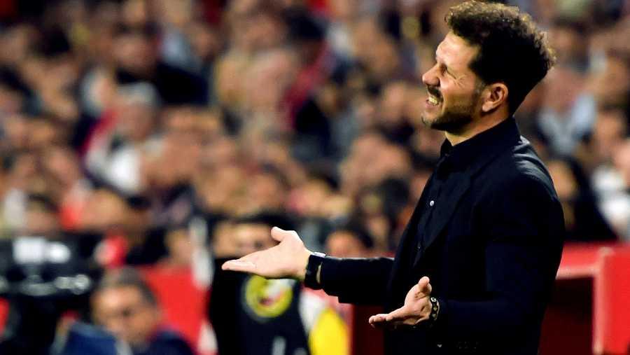 El entrenador del Atlético de Madrid, Diego Pablo 'Cholo' Simeone