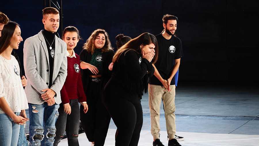 La alegría de una chica en el casting al oír el veredicto en la Fase 2 del casting OT 2020 en Madrid