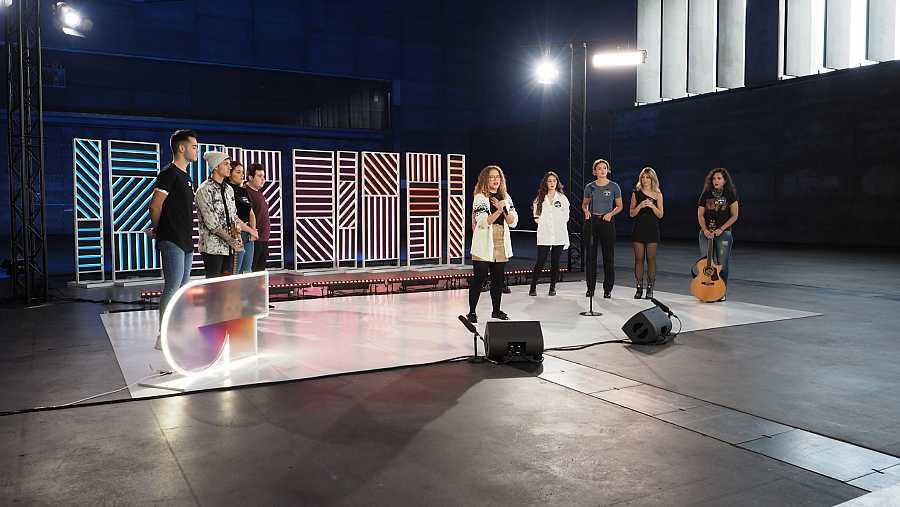 El segundo grupo iniciando el casting en la Fase 2 del casting OT 2020 en Madrid