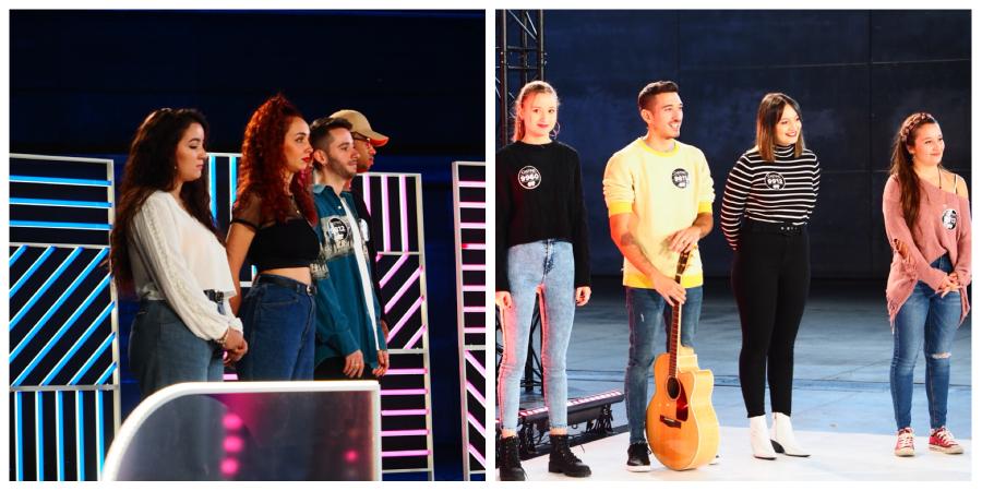 Caras de ilusión en el sexto grupo en la Fase 2 del casting OT 2020 en Madrid