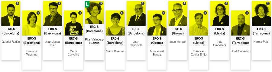 Los diputados de ERC
