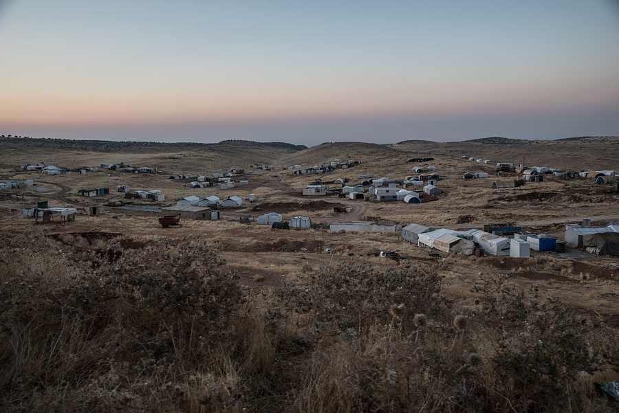 Vista del campamento del monte Sinjar en septiembre de 2019.