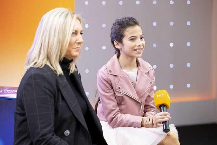 Eurovisión Junior 2019. Melani y Ana Bordas en rueda de prensa