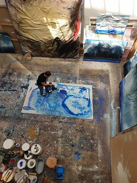 En el estudio del pintor Miquel Barceló