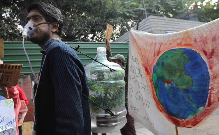 Cumbre del Clima: Manifestación de Fridays For Future en Nueva Delhi
