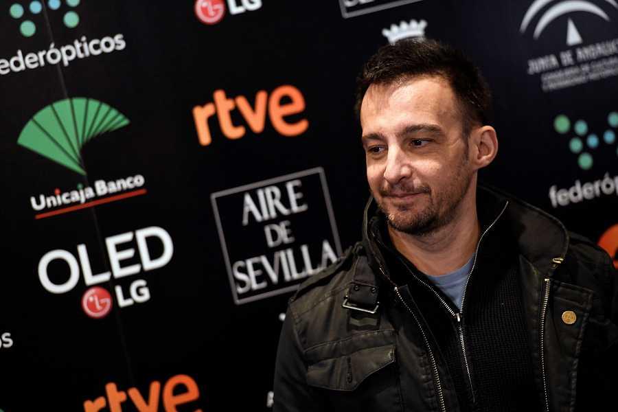 Alejandro Amenábar,en la Academia de Cine de Madrid.