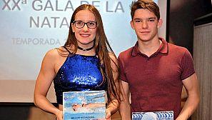 Paula Juste (i), en una foto del CN Lleida