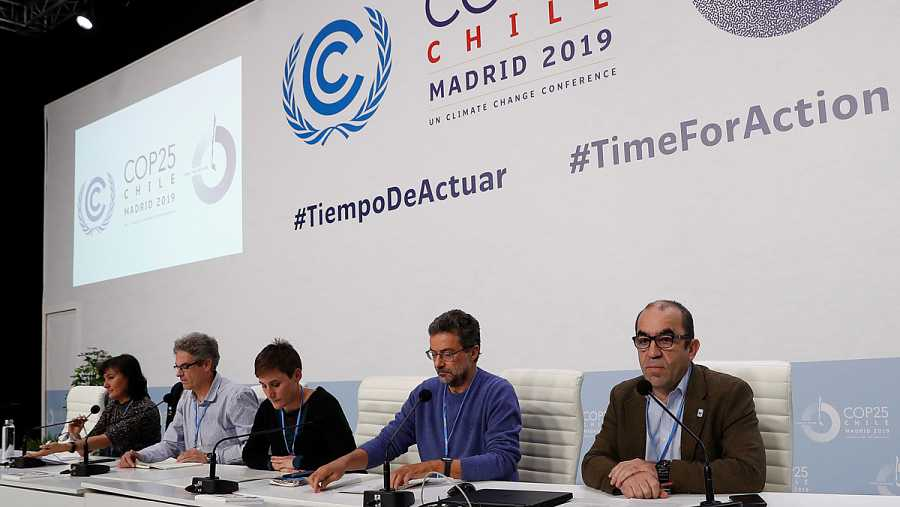 La directora ejecutiva de SEO/BirdLife, Asunción Ruiz (i), el secretario general de WWF España, Juan Carlos del Olmo (d), la coordinadora de Amigos de la Tierra, Blanca Ruibal (c), el coordinador de Ecologistas en Acción, Paco Segura (2d) y el direc