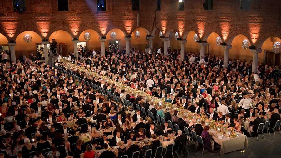 Nobel banquet at Stockholm City Hall, in Stockholm