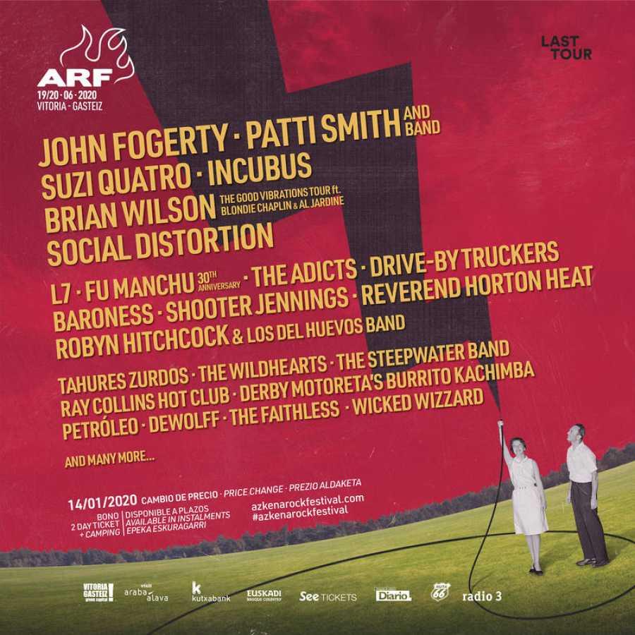 Cartel del AzkenaRock Festival 2020