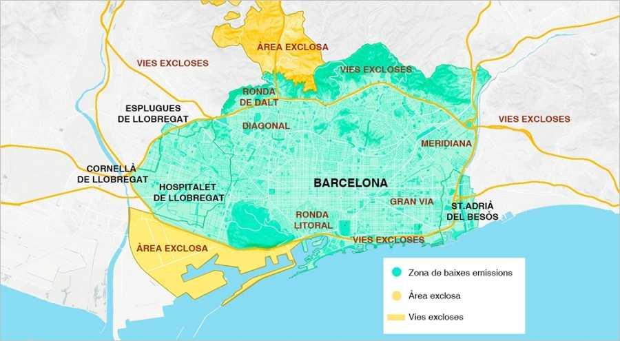 Como Funciona La Zona De Bajas Emisiones De Barcelona Que Arranca Este 1 De Enero