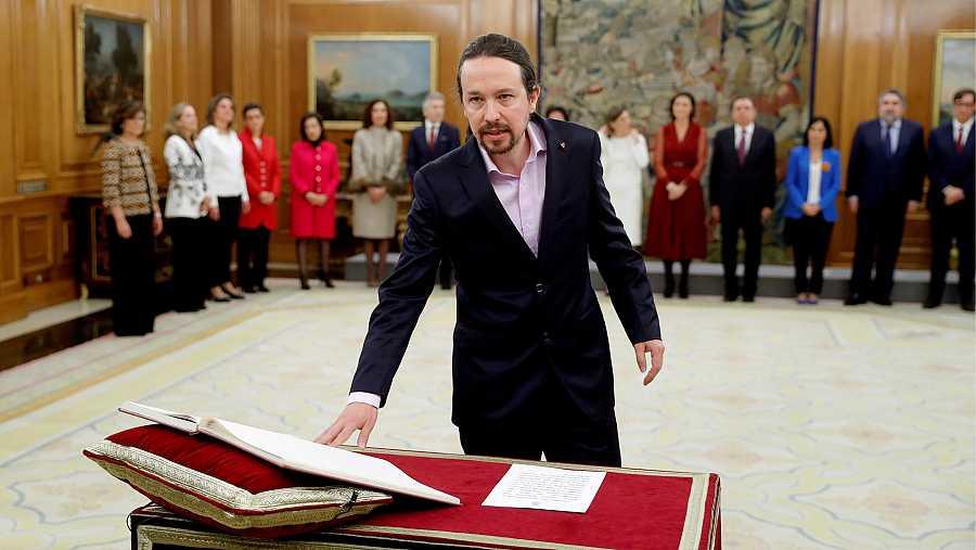 Pablo Iglesias promete su cargo