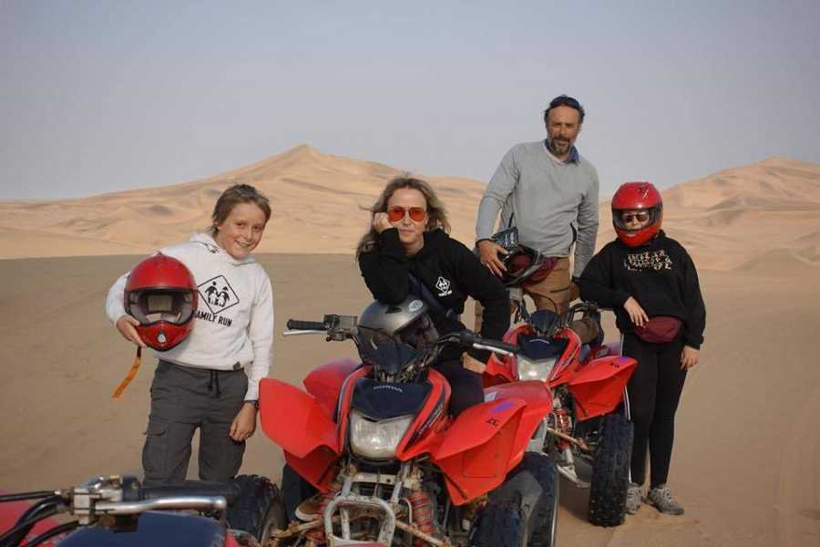 Mi familia en la mochila en tierras africanas